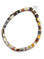 Buffalo Horn Cubu Beads Bracelet (Tan Mix)