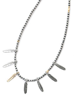 FEATHER BEADS NECKLACE 173