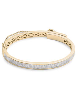 PAVE EXTRA THIN SAFETY CHAIN BRACELET (GOLD)