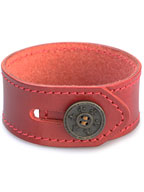 lily button single bracelet (red)