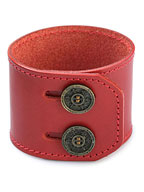 lily button double bracelet (red)