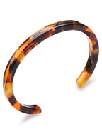 Tortoise Shell 6mm Narrow Bangle (Amber) [910-500B]