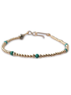 Small Beads Bracelet (Gold Plate)