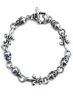 New Hollywood Skull Bracelet with Purple CZ