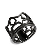 SKELETON FIVE STAR RING (MATTE BK)
