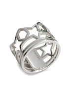 SKELETON FIVE STAR RING (SILVER)
