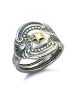 SPOON RING GOLDEN STAR