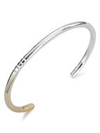 four spiral bangle K18 gold plated 【it's 12 midnight 別注モデル】