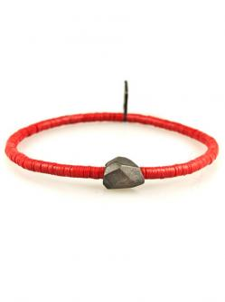 Oxidized Silver & African Disc (レッド) [B-101080-RED]