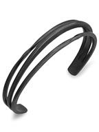 TRINITY BANGLE TWIST&SLASH (MATTE BK)