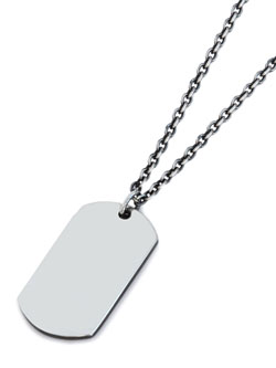 ART IDTAG PENDANT (SILVER)