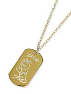 ART IDTAG PENDANT (GOLD)