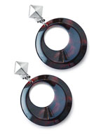 32mm Vintage Crescent EarClips (Red) [910-502E]