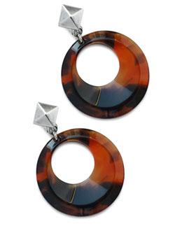 32mm Vintage Crescent EarClips (Amber) [910-502E]