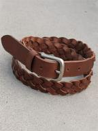 4つ編み LEATHER BELT (BROWN)