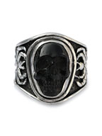 Sculpted Skull Ring - JET