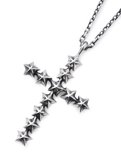 Star Studs Large Cross Necklace [16AJK-171]