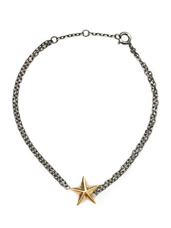 SILVER STAR BRACELET (GOLD × BLACK)